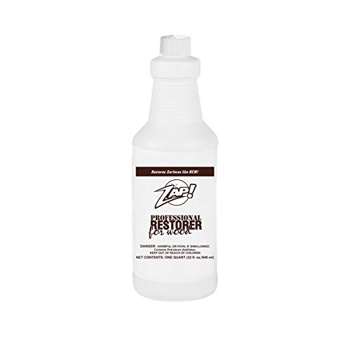 Zap Professional Wood Cleaner and Restorer - 32 oz Bottle - Clean, Polish, and Restore Wooden Furniture and Hardwood Floors - Kitchen Cabinet and Table Deep Wood Cleaner for Heavy Duty Cleaning