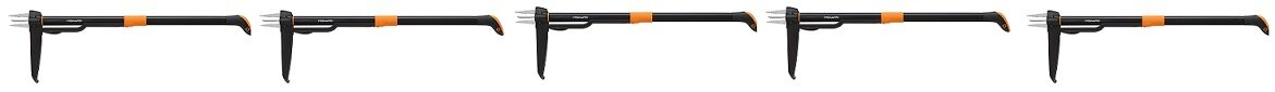 Fiskars Deluxe Stand-up Weeder (4-claw) (5-Pack)