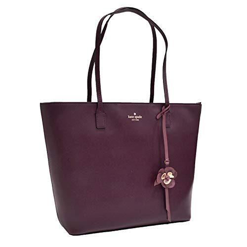 Kate Spade New York Tote Purse Karla Flower Dangle Felicity Street (Deep Plum) ()