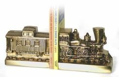 P M Craftsman Pm Craftsman Train And Caboose Bookends Brass