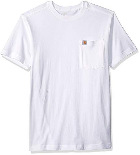 Carhartt Men's Maddock Pocket Short-Sleeve T-Shirt, White, Medium