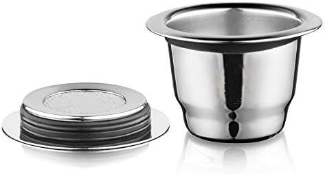 Icafilas Link VIP for Nespresso Reutilisable riutilizzabile Capsule Espresso Crema riutilizzabile Nuova ricaricabile for Nespresso (Colore : 3capusles 1tam 1sp)
