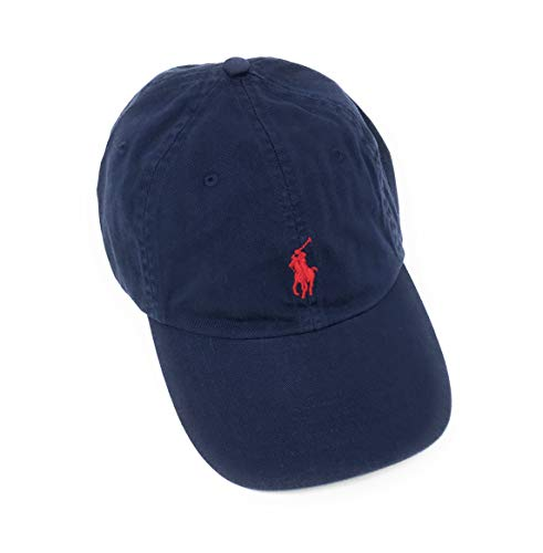 Polo Ralph Lauren Mens Twill Signature Ball Cap (One Size, Navy)