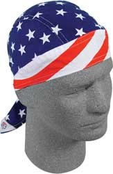 Zan Headgear Flydanna Headwrap , Distinct Name: Stars & Stripes, Primary Color: Blue, Gender: Mens/Unisex, Size: OSFM - Headwrap Stripes