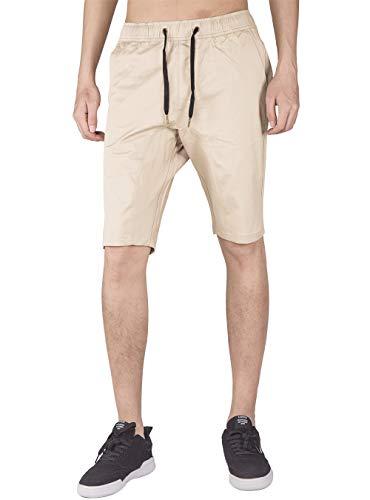 (ITALY MORN Men's Chino Classic Khaki Casual Shorts M Cream Khaki)