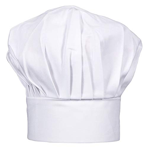 Ufaucet Adjustable Velcro Closure Professional Kitchen Cooking Uniforms White Chef Hat