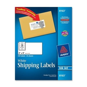 amazoncom avery dennison 8163 250 labels 08163 2x4 With avery 2x4 address labels