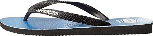 Havaianas Uomo Top Sandalo Photoprint Nero / Bianco / Blu