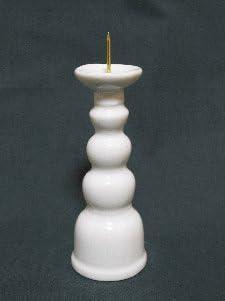 [해외]원통형 수직 백색 4 치수 (높이 12.6 cm) 불교 용품 불 용품 불 공양 공양 추석이 무더운 / Candle Stand White 4-Inch (Height 12.6cm) Buddhist Altar Supplies Buddhist Altar Offering Offering Obon Obon Oibank