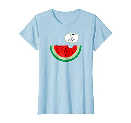 Womens Sweet and Juicy Red Watermelon Slice with Green Rind T Shirt