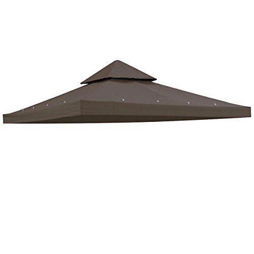 Triprel Inc. 8 'x 8' COFFEE LIQUEUR 2 Tier Gazebo Top Canopy Replacement 200g Outdoor Backyard Patio Cover (2 Gazebo Tier)