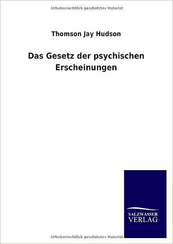 Book Das Gesetz der psychischen Erscheinungen (German Edition)