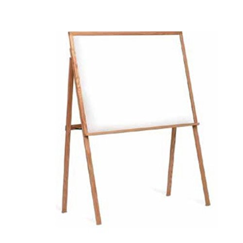 Marsh 64X48 Black Composition Chalkboard Presentation Easel, Oak Wood ()