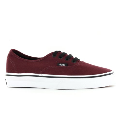 Mens Vans Authenic Lace Up Low Rise Casual Skate Shoes Plimsoll Sneakers (10.5 D(M), Burgundy)