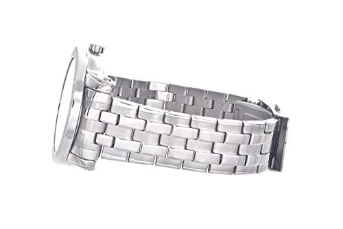 Freeze Mens Genuine Diamond Watch Stainless Steel Silver Face #FR-754