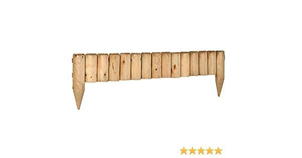 Catral 31010007 - Bordo fijo de madera tratada 15x105 cm. diam.7 ...