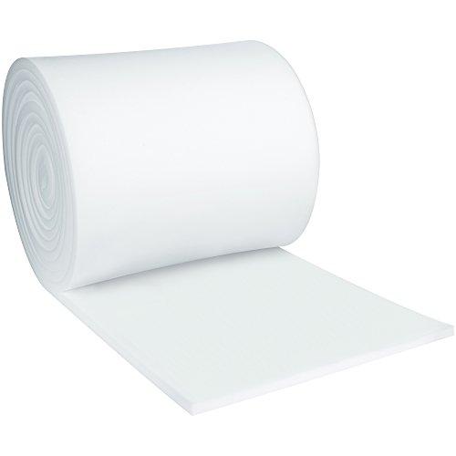 BOX USA BFR1236 Soft Foam Roll, 1'' x 12'' x 36', White (Pack of 1 Each) by BOX USA