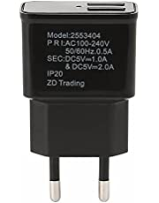 2 Ports USB Fast Charger For Samsung Travel Adapter Wall Charger EU Plug (Black)