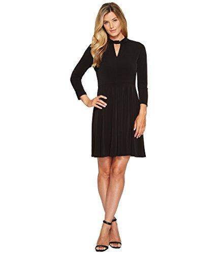 適度な隣人五[マイケル マイケルコース] MICHAEL Michael Kors レディース Solid Neck Detail Dress ドレス Black LG [並行輸入品]