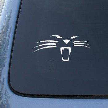 Panther Face - Car, Truck, Notebook, Vinyl Decal Sticker #2592 | Vinyl Color: White