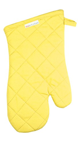 MUkitchen 100% Cotton, Terry-Lined Oven Mitt, 13-Inches, ()
