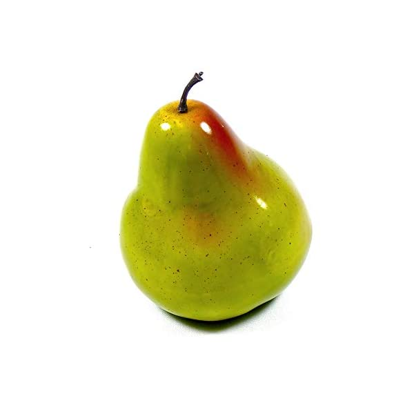 6pc-Artificial-Pear-Large-Plastic-Green-Pears-Fruit-Six-Pieces