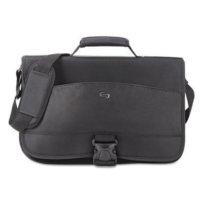 Solo Conquer 15.6 Inch Expandable Laptop Messenger, Black