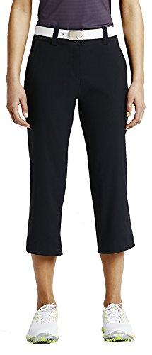 Nike Women's Modern Rise Tech Crop Pant Black / Black 10