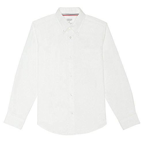 French Toast Big Boys' Long Sleeve Oxford Dress Shirt, White, -