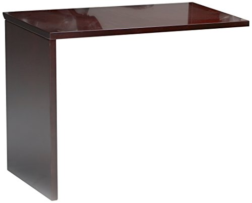 Mayline NRTNAMAH Napoli Universal ADA Return for Napoli Reception Station, sold separately, Mahogany Veneer