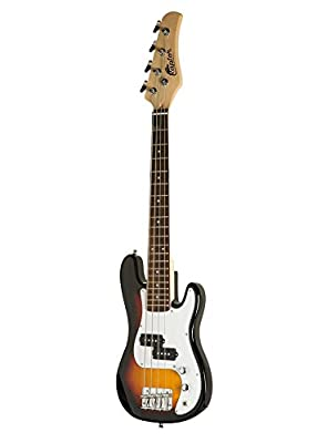 "Raptor EB38CO-TS 3/4 Size Kids Junior 4 String Electric P Bass Package, Tobacco-Burst with Gig Bag, Strap, Cable, Pick, 5 W amp, 38"" L"
