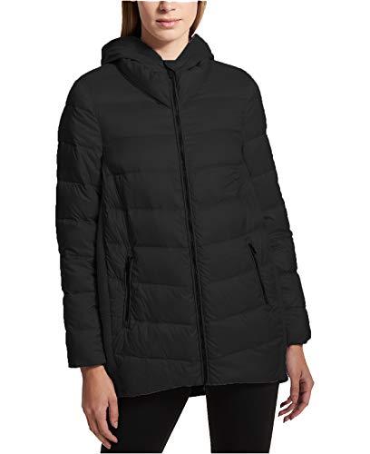 - DKNY Women's Down-Filled Puffer Jacket (Black, Medium)