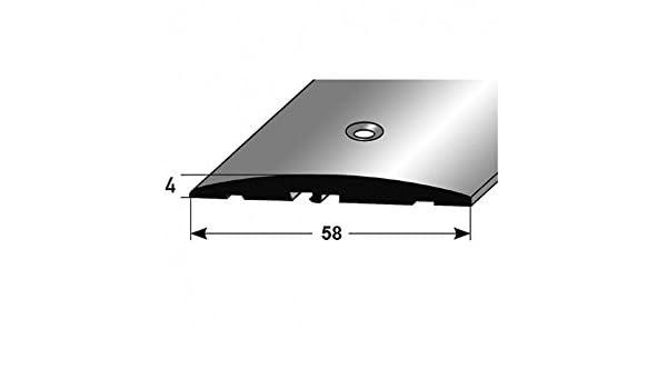 Perfil de transición / Tapajuntas / 60 mm, Typ: 08 (Aluminio anodizado, centro perforado) - color: bronce claro: Amazon.es: Hogar