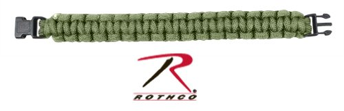 Military Survival Paracord Bracelet 7, Olive Drab