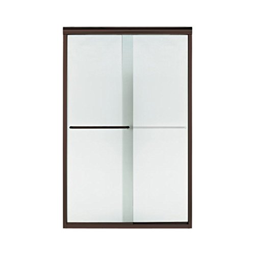 Sterling Plumbing 5375EZ-47DR-G69 Finesse 45.75-In To 47.25-In X 70.3-In Frameless Sliding Alcove Shower Door With Lake Mist Glass, 0.25-in L x 45.8-47.3-in W H, Deep - G69 Door Finesse Shower