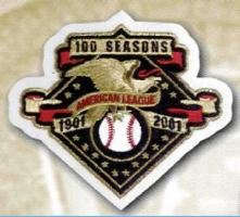 - 2001 MLB American League 100th Anniversary Jersey Sleeve Patch