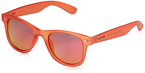 Polaroid Sunglasses PLD6009NM Wayfarer Polarized Sunglasses, Orange & Red Polarized, 50 mm (Glass Orange 22)