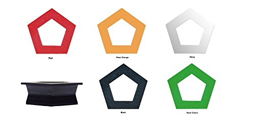 1pc GeoGauges Brand Pentagon Shaped Silicone Tunnels Ear Plugs Gauges Body - Pentagon Shaped