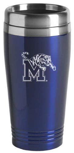 University of Memphis - 16-ounce Travel Mug Tumbler - Blue ()
