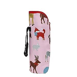 Leoie Baby Products Baby Water Milk Warmer Bottle Holder Bag Thermal Insulation Portable Waterproof Stroller Bottle…