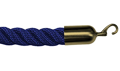 Lawrence metal ROPE-TWST-23-040-2-HOOK-2S Twisted Plastic Rope, 4', Blue