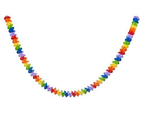 American Greetings Rainbow Paper Garland, Multicolor