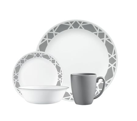 Cheap Livingware 16-Piece Dinnerware Set, Modena, Service for 4