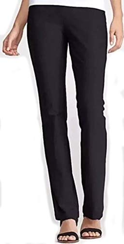 Eileen Fisher Washable Stretch Crepe Black Slim Boot Cut Pants 1X ()