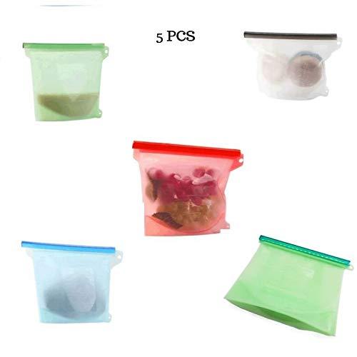 Bolsa reutilizable de silicona para alimentos con cierre ...