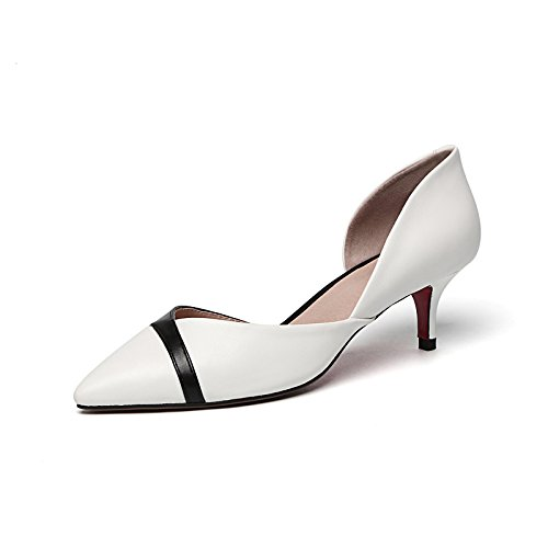 Fina Sandalias Con con Heeled Femeninas EU36 Mujer Zapatos Punta Eu35 SHOESHAOGE Calzado Una Única Carrera High dtPqX7w