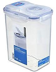 "Lock & Lock Classic Airtight Food Container, Transparent, 5.9 x 4.3 x 7.6"" Flip Lid, HPL813F"