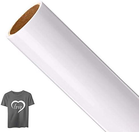 AIEX 1 Roll Vinyl Transfer, Heat-On Heat Transfer para camiseta, sombreros, ropa, prensa de calor, sublimación artesanal (blanco, 12 pulgadas x 5 pies): Amazon.es: Hogar