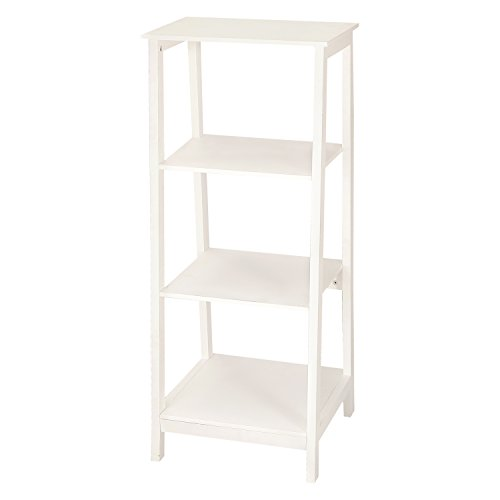ELEGAN Simple Home Living Room Bed Room Bookcase/ Book Shelf (Whtie Ivory)