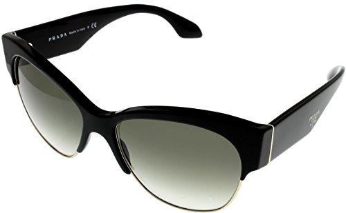 Prada Sunglasses Women Milano Black Semi Rimless PR11RS - Discount Glasses Prada